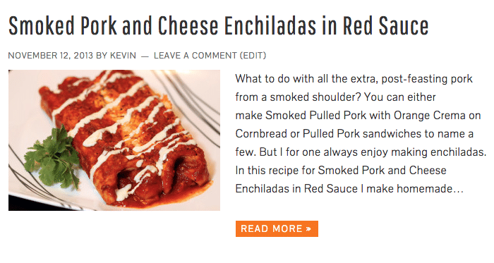 Smoked Pork and Cheese Enchiladas in Red Sauce - Keviniscooking.com