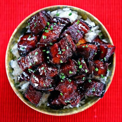 Szechuan Red Braised Pork Belly – (Hong Shao Rou)