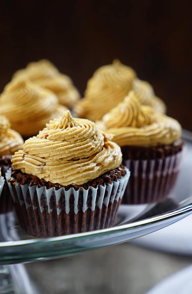 Brownie Cupcakes with Peanut Butter Buttercream Frosting1