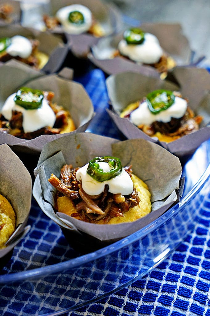Cinnamon Orange Pulled Pork Cornbread Muffins with Candied Jalapeño4