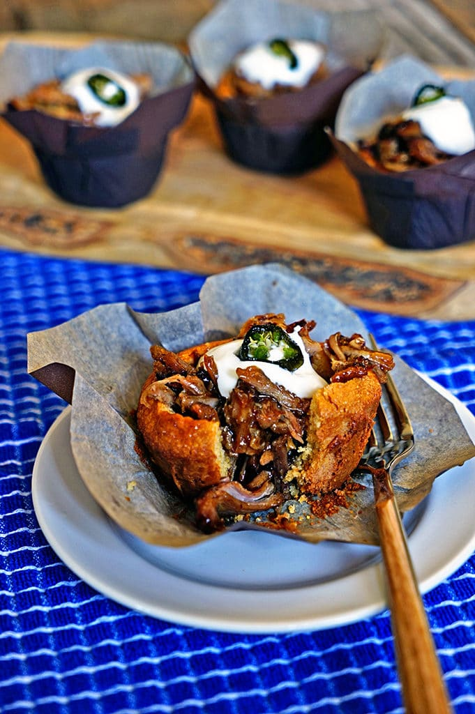 Cinnamon Orange Pulled Pork Cornbread Muffins with Candied Jalapeño6