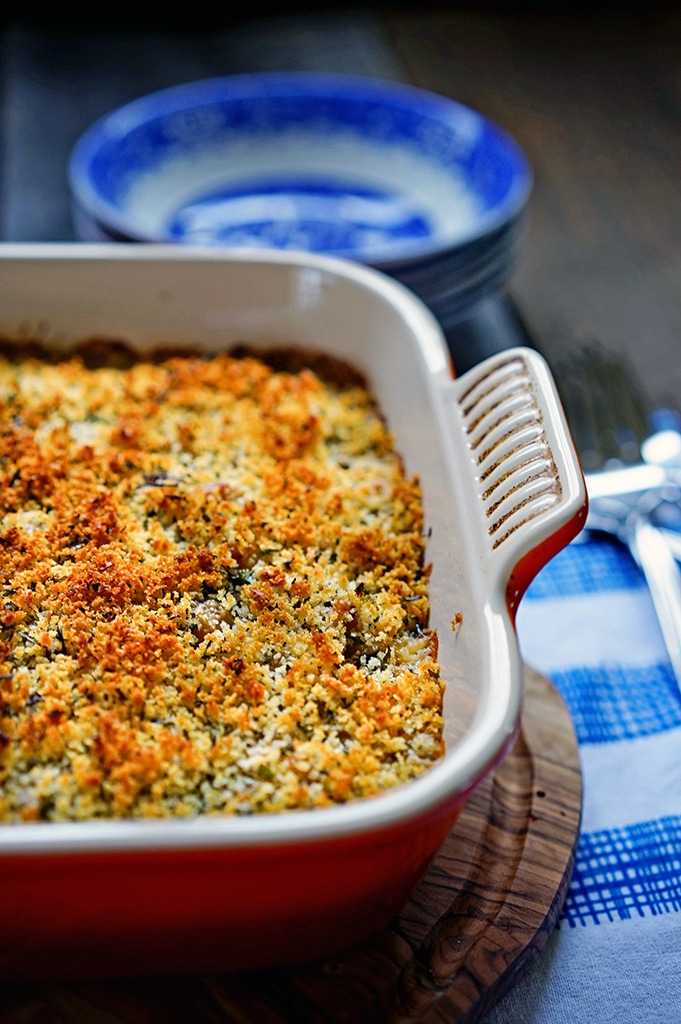 Macaroni And Cheese With Garlic Bread Crumbs, Plain And Chipotle ...