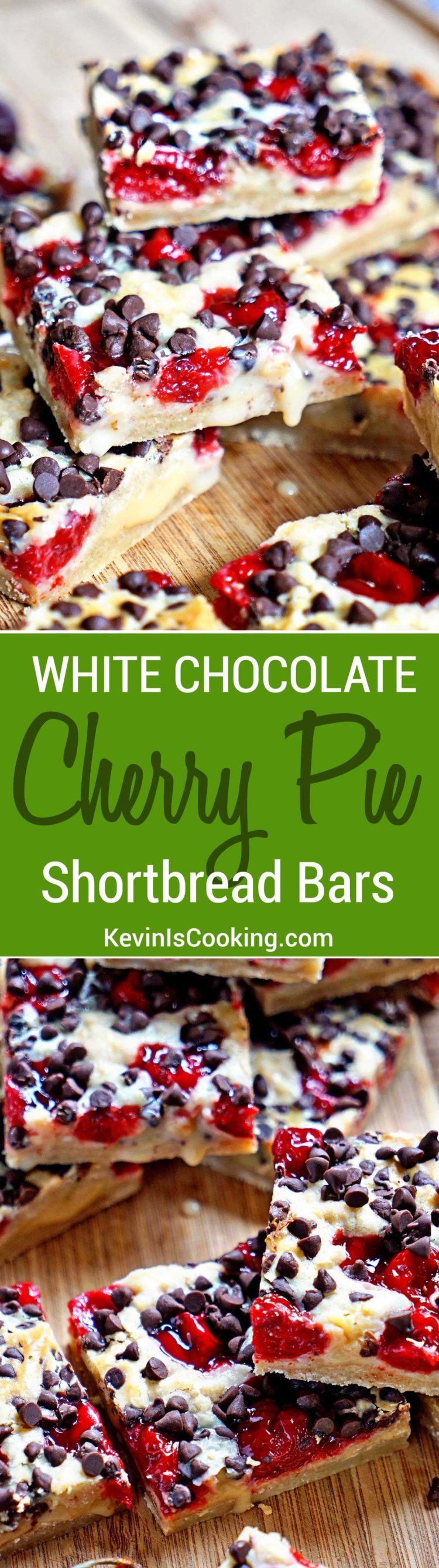 These White Chocolate Cherry Pie Shortbread Bars are perfect for the kids this summer and the family BBQ. We eat them up. Chocolate and cherry on shortbread - YES!