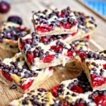 White Chocolate Cherry Pie Shortbread Bars