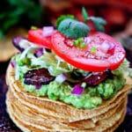 BLT Tostadas with Spiced Guacamole