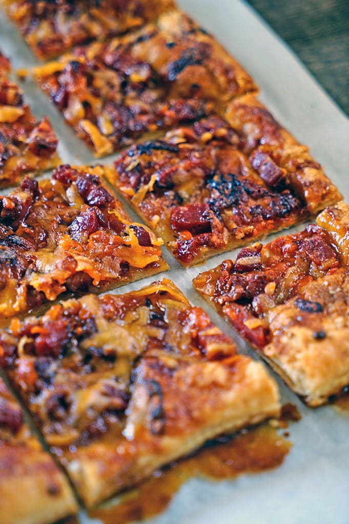 Maple Pancetta Cheddar Cheese Tart. www.keviniscooking.com