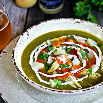 Roasted Pasilla Chile and Potato Soup