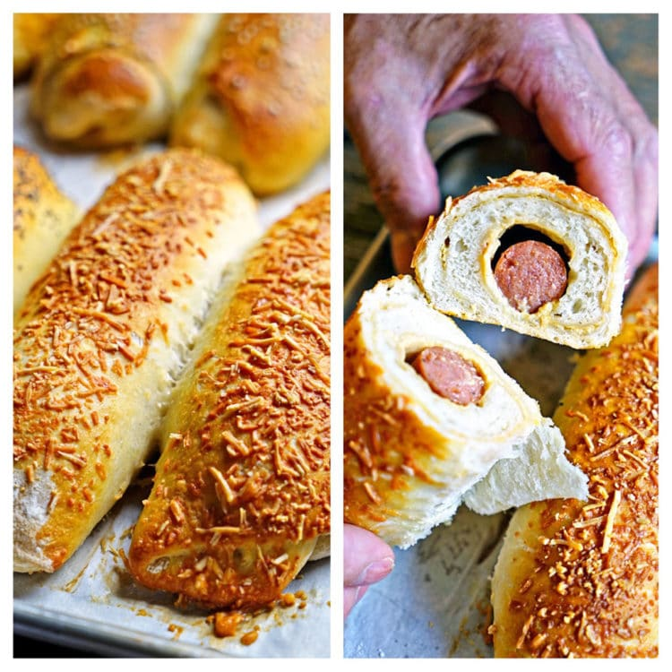 Sourdough Hot Dog Wraps - www.keviniscooking.com
