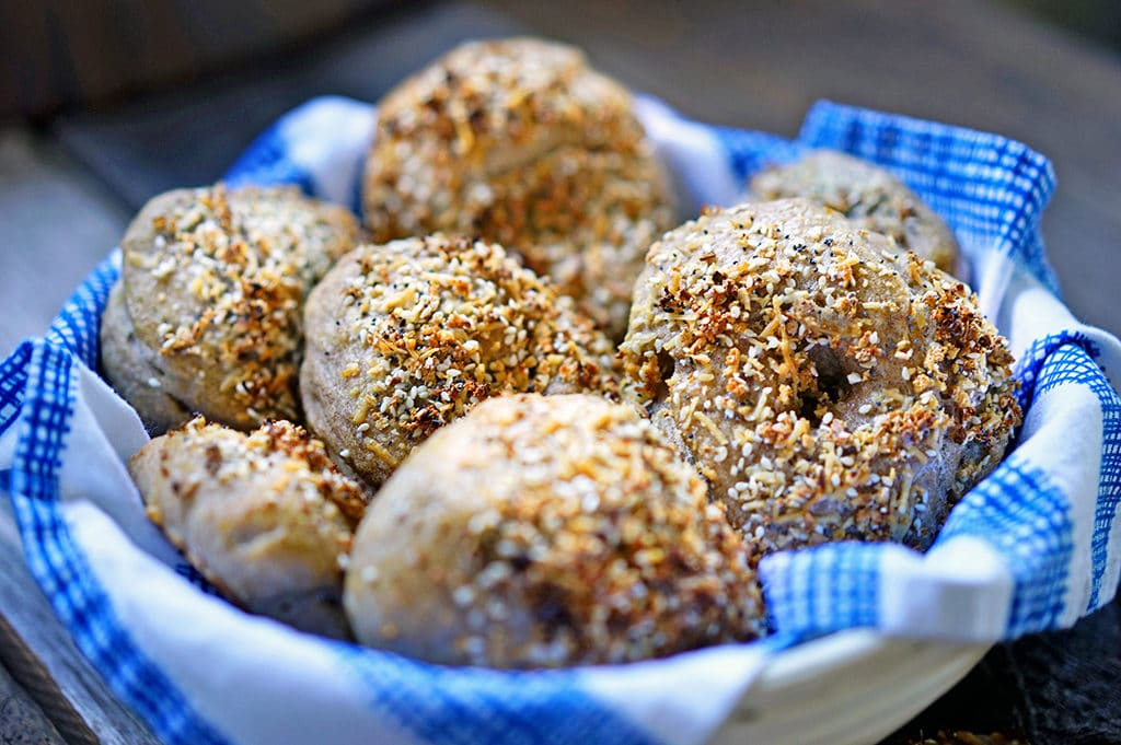 Sourdough Wheat Bagels. www.keviniscooking.com