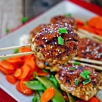 Yakitori Style Chicken Sausage with Sweet and Savory Taré Sauce