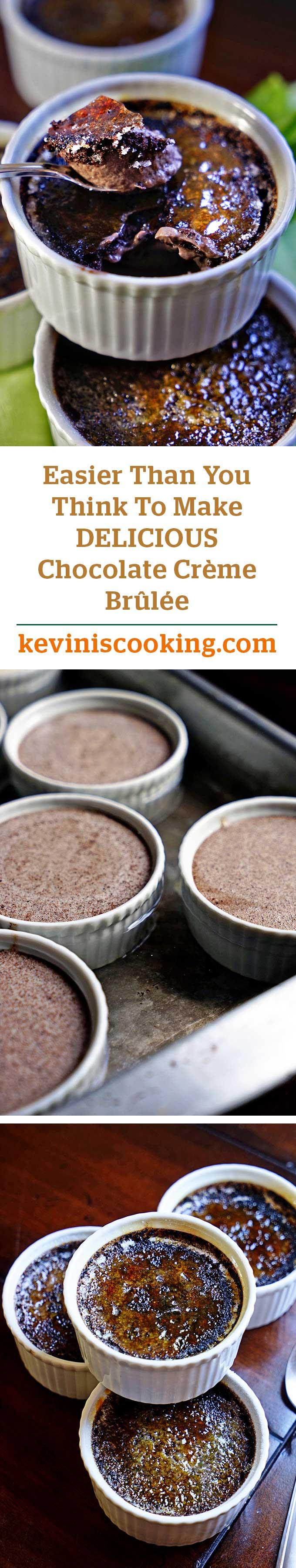 Chocolate Crème Brûlée - keviniscooking.com
