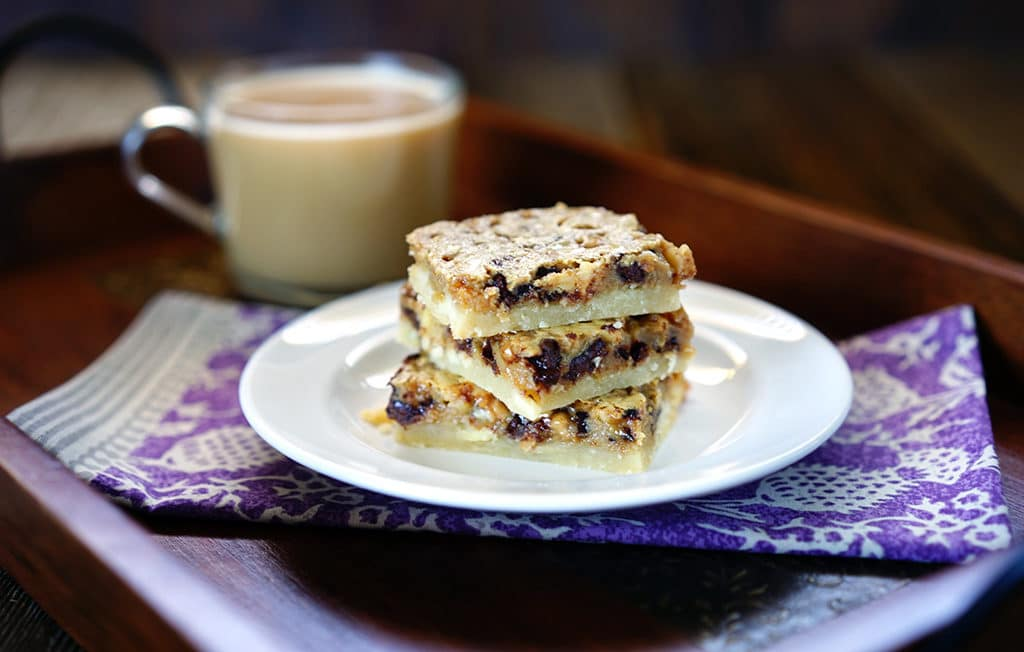 Espresso Chocolate Toffee Almond Shortbread Bars. www.keviniscooking ...