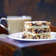 Espresso Chocolate Toffee Almond Shortbread Bars. www.keviniscooking.com
