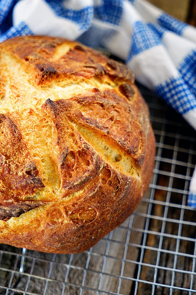 French Style Round Sourdough Bread. www.keviniscooking.com