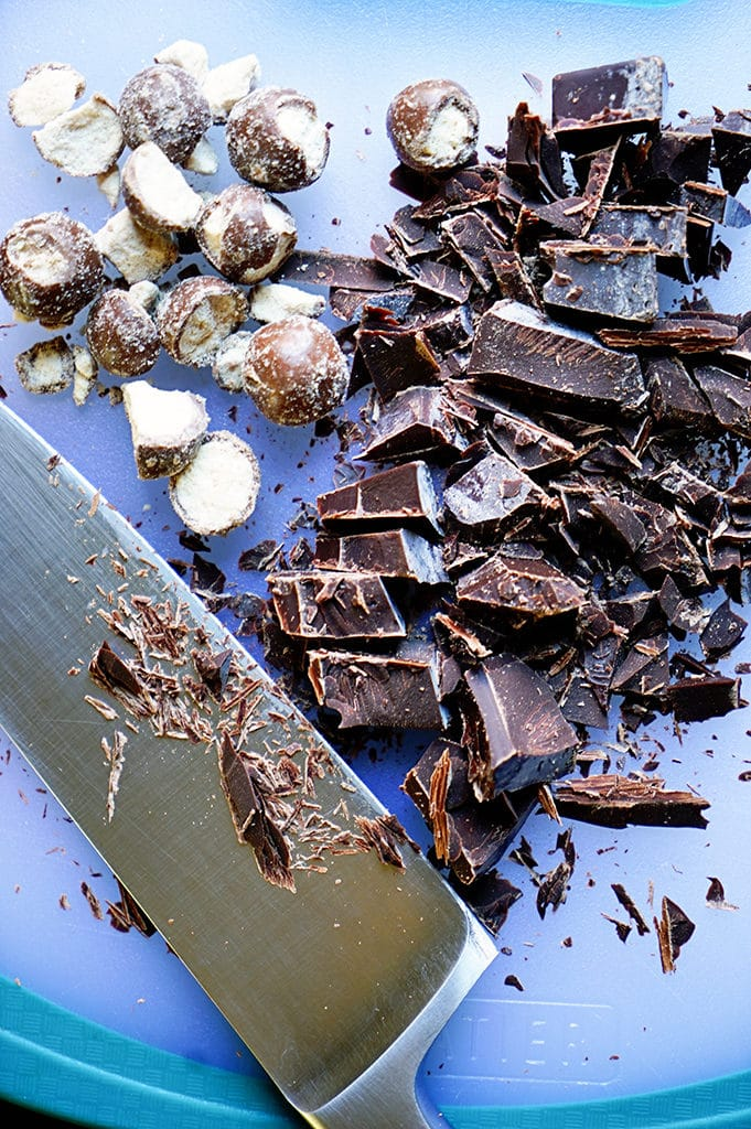 Be prepared for an over-the-top, wow-the-crowd, flavor, texture, nirvana sensation! With a cookie base, malt balls, chocolate truffle and caramel filling, THIS is no-bake Holiday goodness! www.keviniscooking.com
