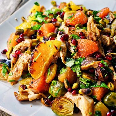 Spiced Citrus Roasted Chicken Salad