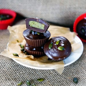 Dark Chocolate Pumpkin Seed Buttercups. www.keviniscooking.com