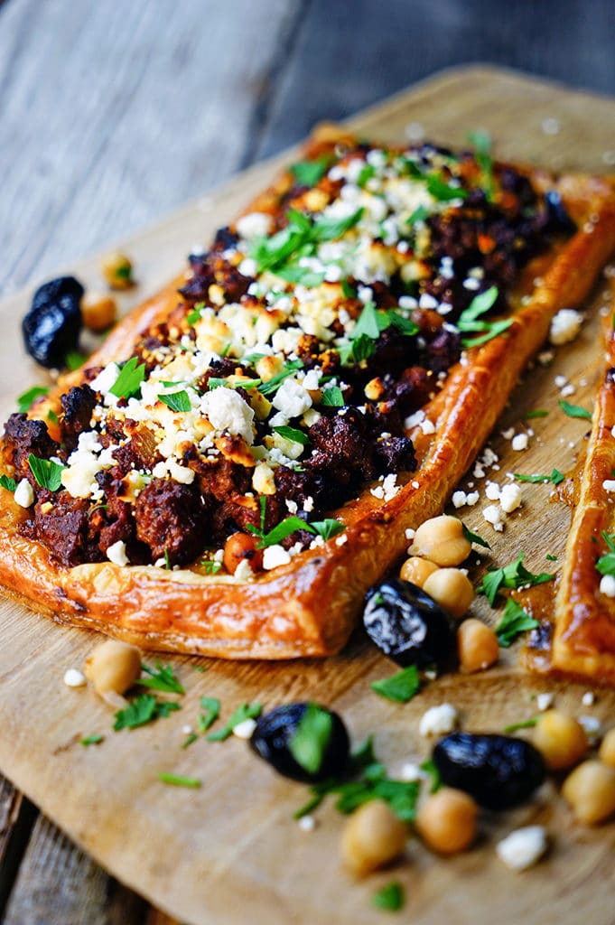 Greek Lamb, Chickpea and Feta Tart. www.keviniscooking.com