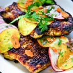 Honey Turmeric Pork Cutlet with Rainbow Beet and Carrot Salad