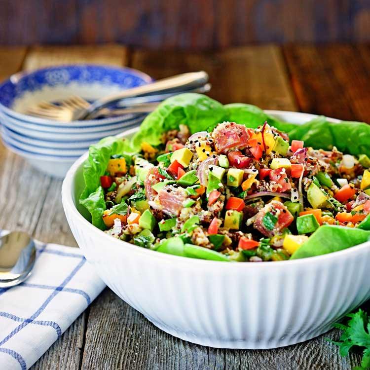 Ahi Poke and Quinoa Salad. www.keviniscooking.com