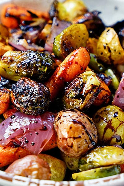 Easy Roasted Vegetables with Honey and Balsamic Syrup