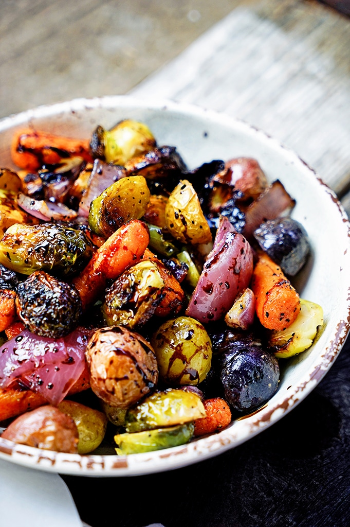 Roasted Vegetables with Honey and Balsamic Syrup | Roasted Vegetables Recipes to Jazz Up Your Chilly Nights