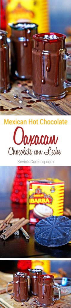 Mexican Hot Chocolate Oaxacan Chocolate con Leche. www.keviniscooking.com