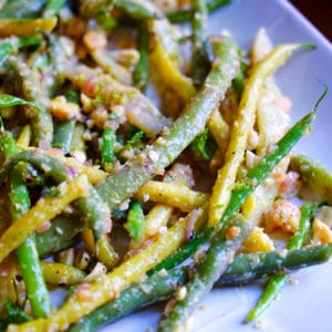 Mixed Yellow and Green Beans with Peanuts Ginger and Lime . www.keviniscooking.com