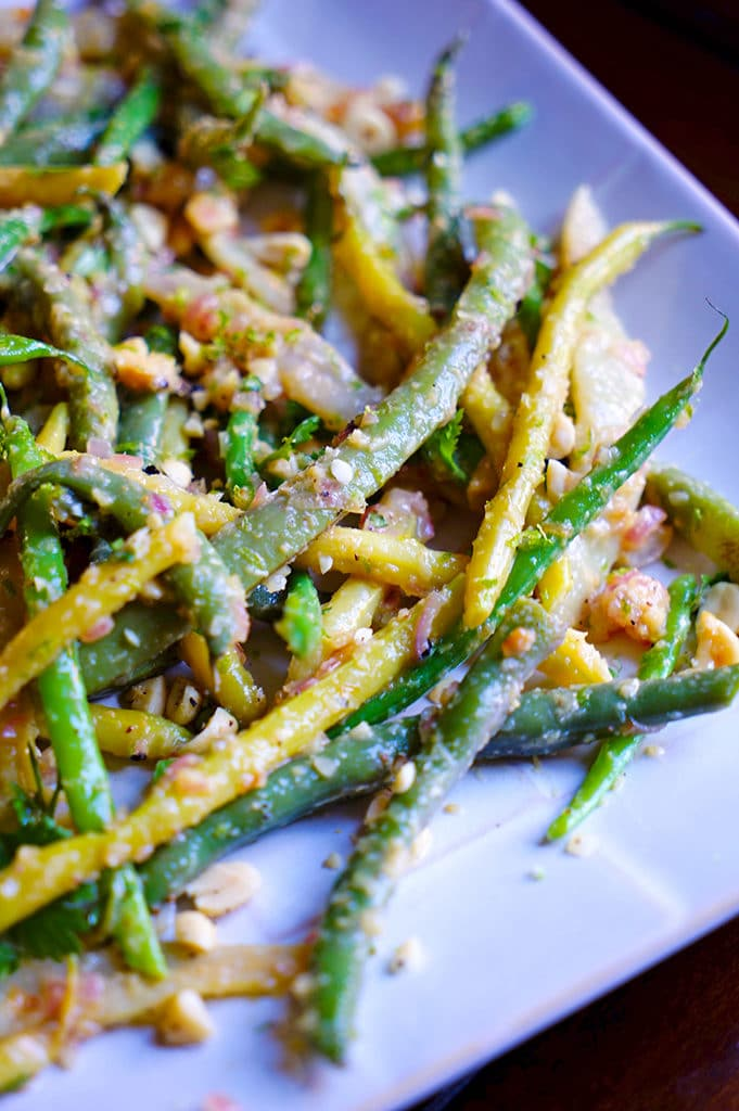Green Beans with Peanuts Ginger and Lime. www.keviniscooking.com