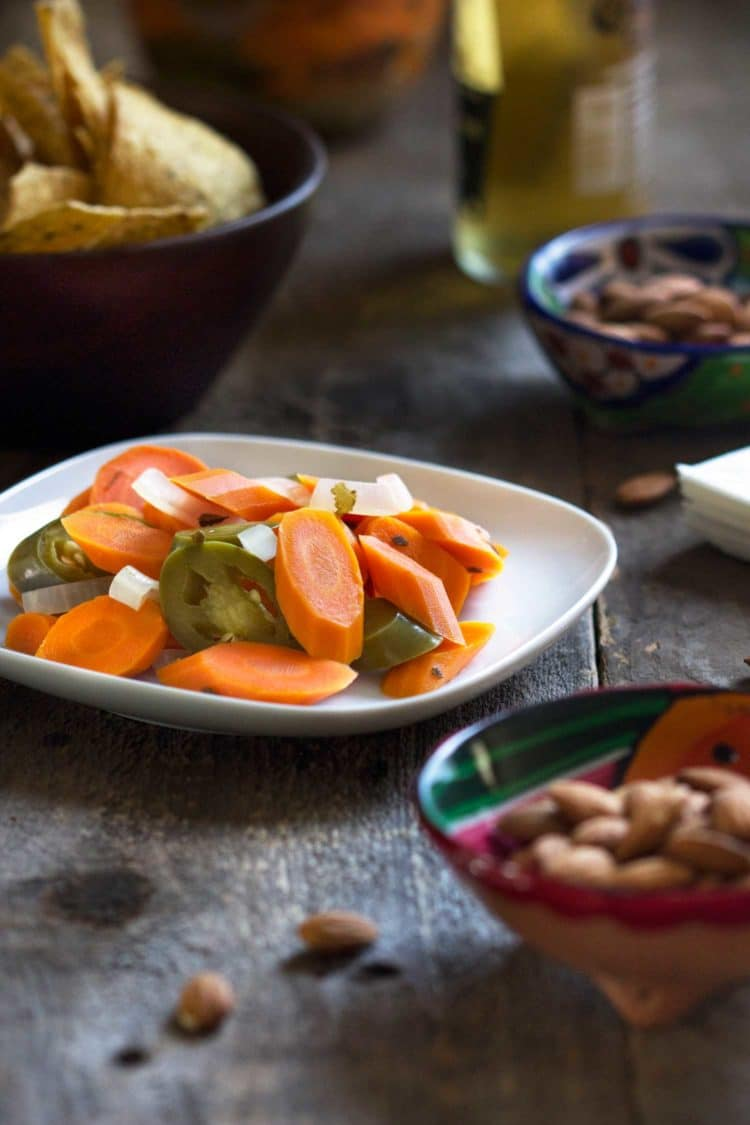 Ever go to a Mexican restaurant and have those pickled, spicy carrots? Well I think I have a great make-it-at-home version that has us eating these like mad! Perfect to snack on and a great appetizer for this Summer's grilling parties. You'll be surprised how easy they are to make. keviniscooking.com