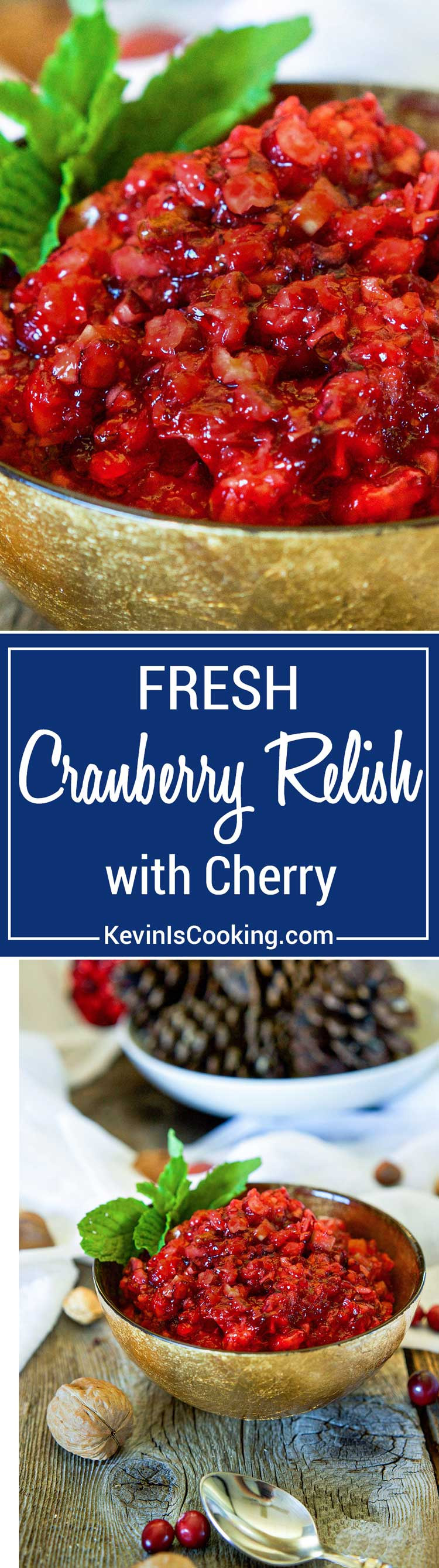Fresh Cranberry Sauce with Cherry starts with fresh cranberries, orange, celery, pecans and walnuts. The secret flavor weapon is cherry jello. A great flavor combo!
