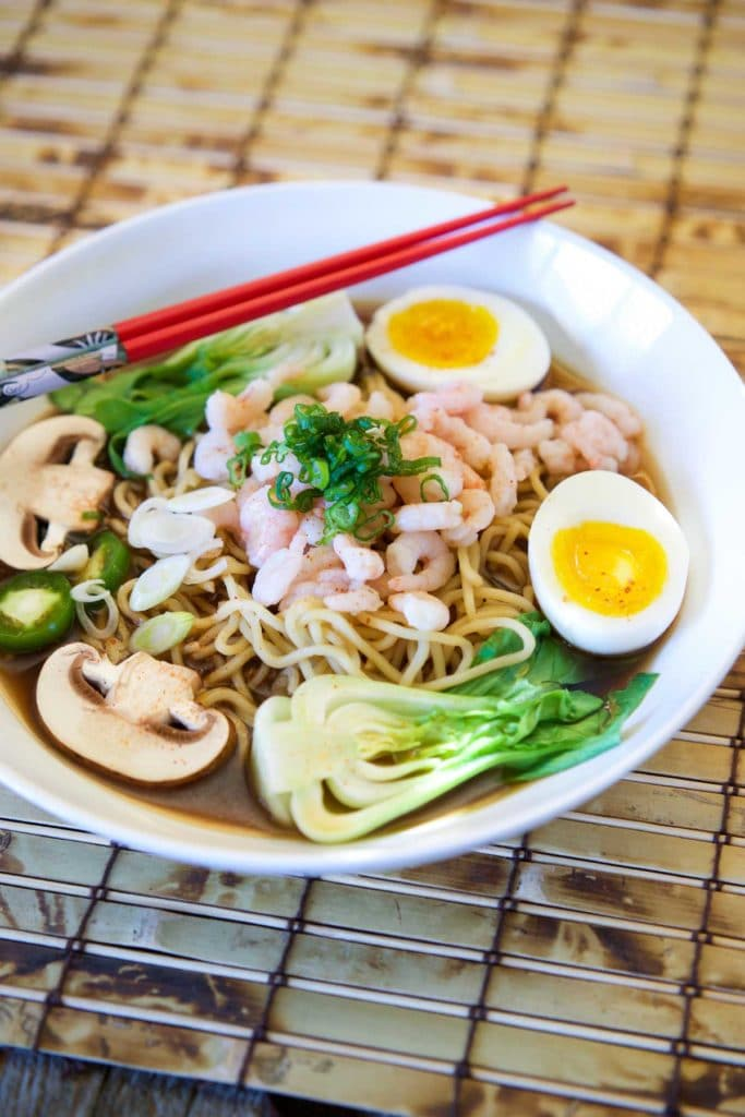 Japanese Shrimp Ramen in Miso Beef Broth. www.keviniscooking.com