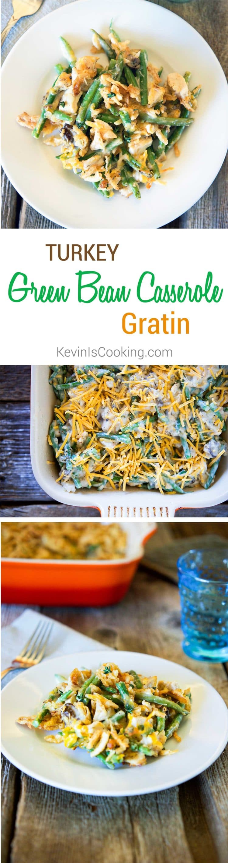 How about using holiday turkey leftovers and make the traditional green bean casserole with cheddar cheese for one amazing and hearty comfort food meal.