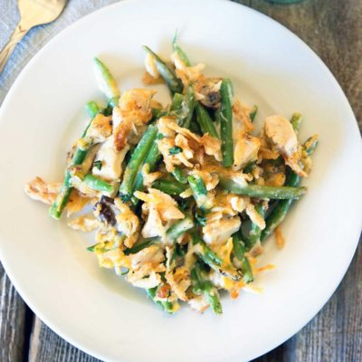 Turkey Green Bean Casserole Gratin