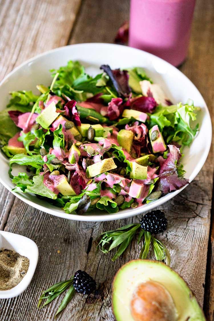 Blackberry Tarragon Salad Dressing. www.keviniscooking.com