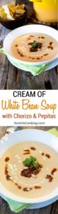 Cream of White Bean Soup with Chorizo. www.keviniscooking.com