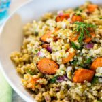 Freekeh Roasted Carrot Salad with Dill