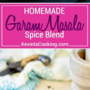 This Indian Garam Masala Spice Blend is an exotic mix of warm spices. I show you how to make it with most pantry spices or purchased from bin markets. So easy and much better than store bought!