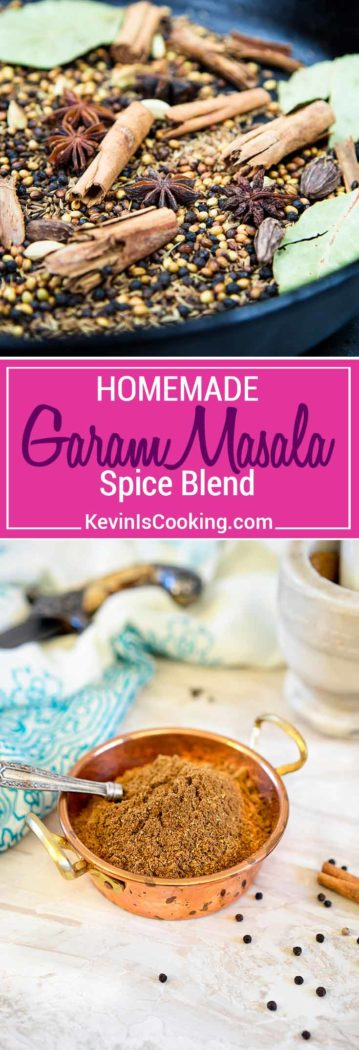 This Indian Garam Masala Spice Blendis an exotic mix of warm spices. I show you how to make it with most pantry spices or purchased from bin markets. So easy and much better than store bought!