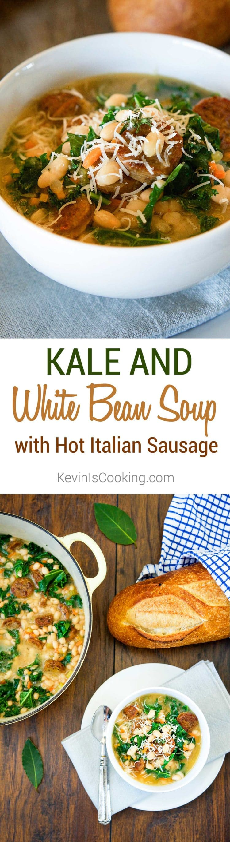 Kale and White Bean Soup with Sausage. www.keviniscooking.com