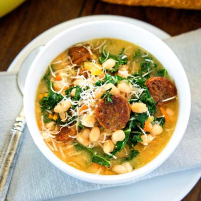 Kale and White Bean Soup with Sausage