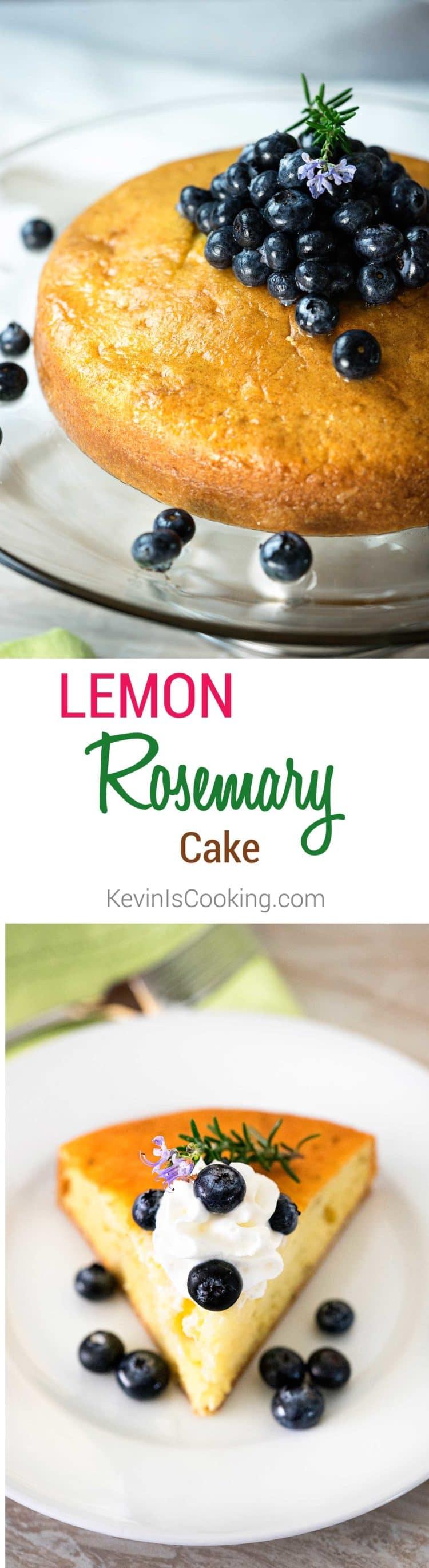 Lemon Rosemary Cake. www.keviniscooking.com