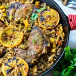 One Pan Jerk Chicken and Rice with Oranges