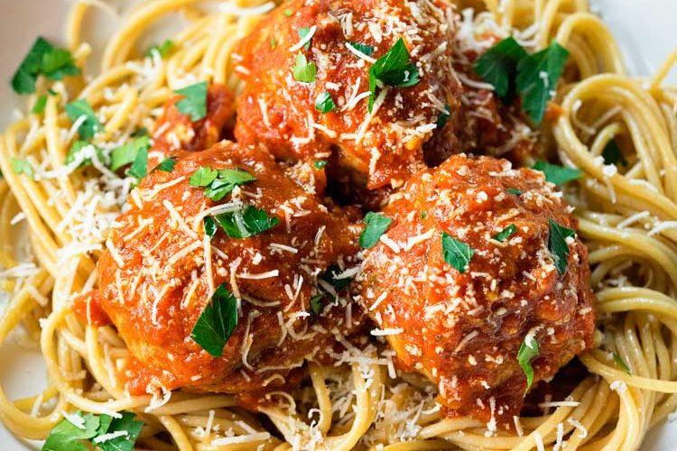 Roman Meatballs with Arrabbiata Sauce