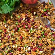 Saffron and Orange Wheat Berries with Pomegranate. www.keviniscooking.com