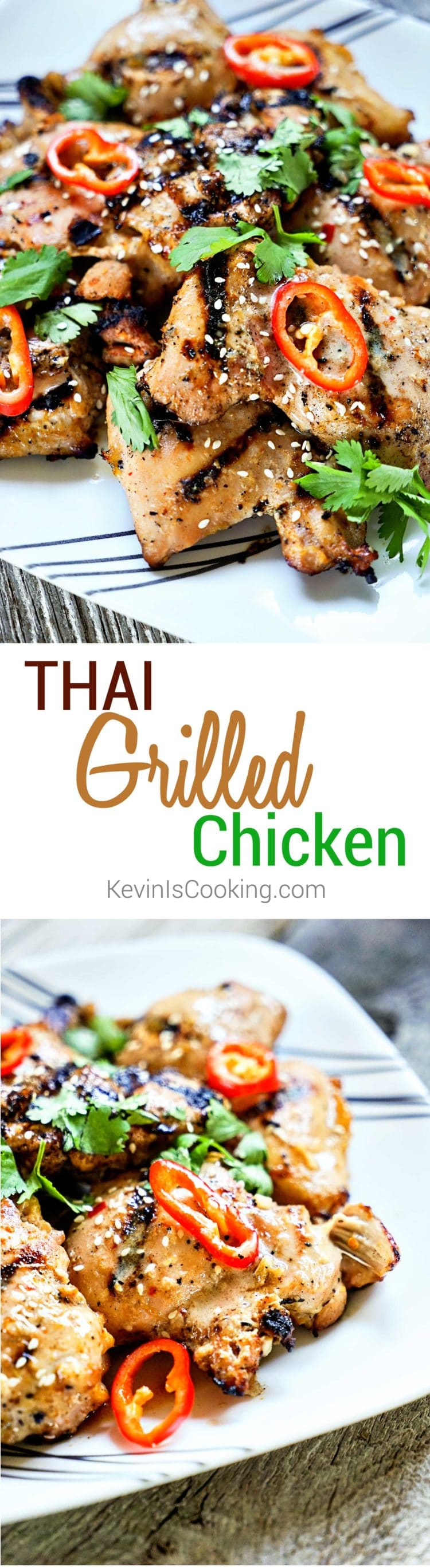 Tasty, authentic Thai street food anyone? This Amazing Thai Grilled Chicken delivers BIG time on flavor using fresh lemongrass and fish sauce in the marinade. So good!