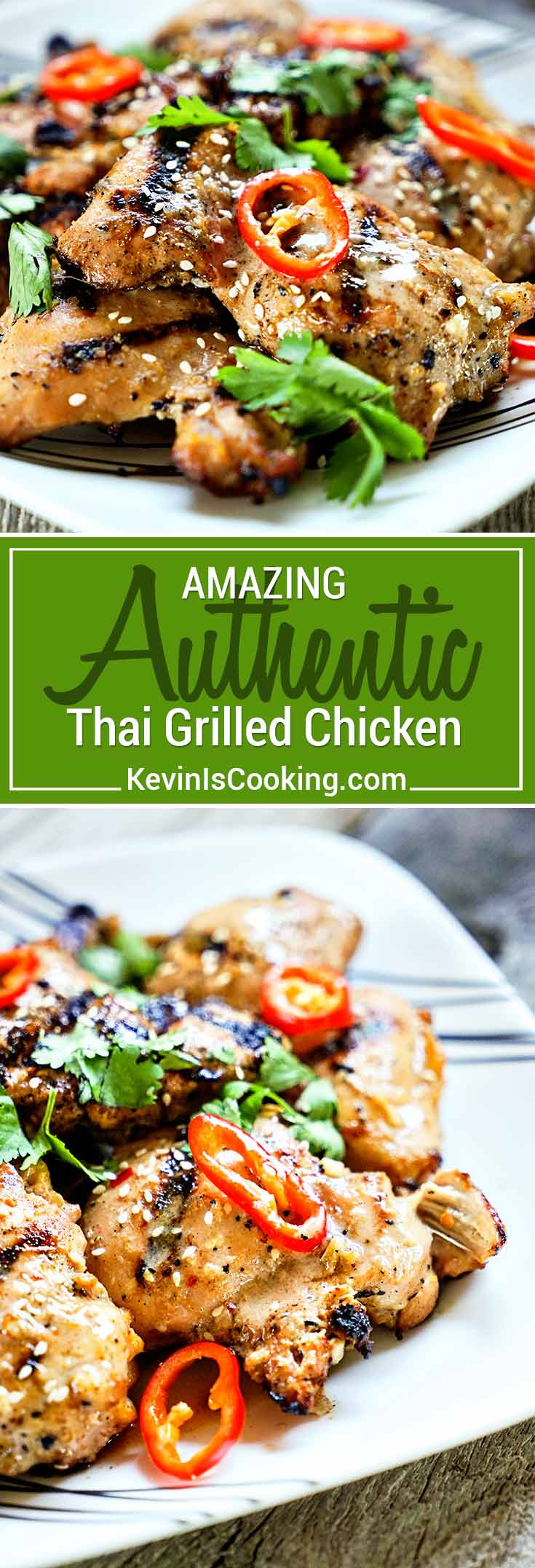 Tasty, authentic Thai street food anyone? This Amazing Thai Grilled Chicken delivers BIG time on flavor using freshlemongrass and fish sauce in the marinade.