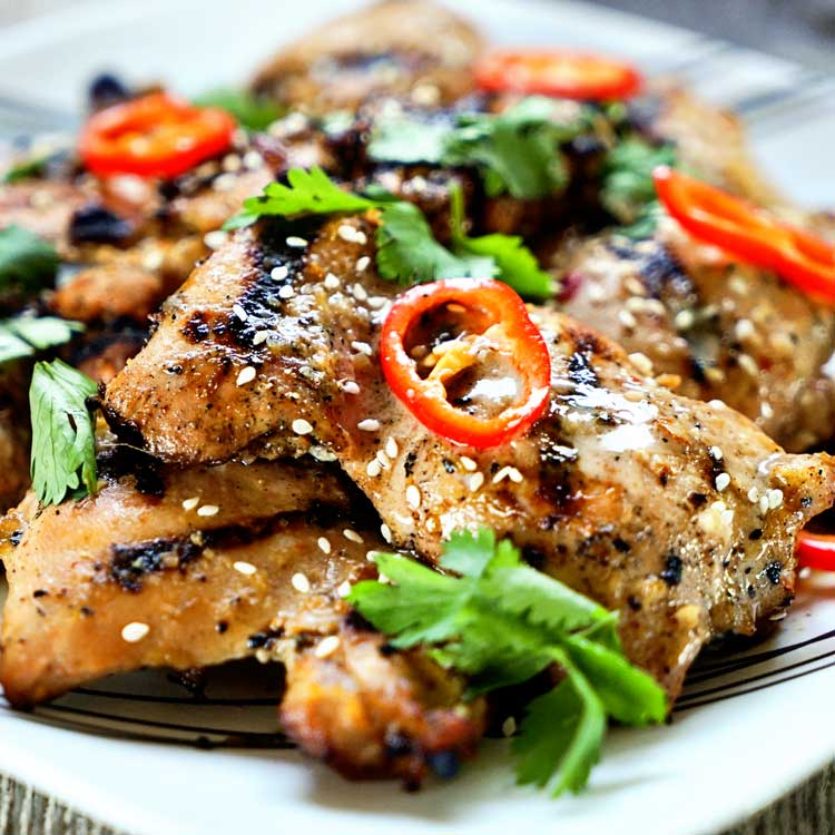 Amazing thai grilled chicken kevin is cooking tasty authentic thai street food anyone this thai amazing grilled chicken delivers big time forumfinder Images