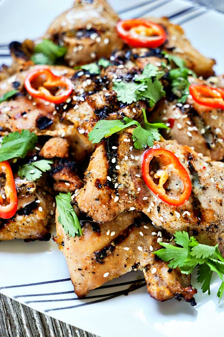 Tasty, authentic Thai street food anyone? This Amazing Thai Grilled Chicken delivers BIG time on flavor using fresh lemongrass and fish sauce in the marinade. www.keviniscooking.com