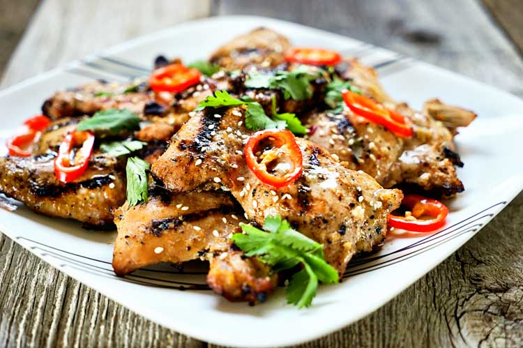 Tasty, authentic Thai street food anyone? This Amazing Thai Grilled Chicken delivers BIG time on flavor using freshlemongrass and fish sauce in the marinade. www.keviniscooking.com